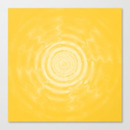 Ripples_Yellow Canvas Print