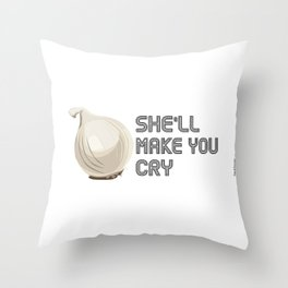 Onion Domination - Cleveland Condiment Race Throw Pillow