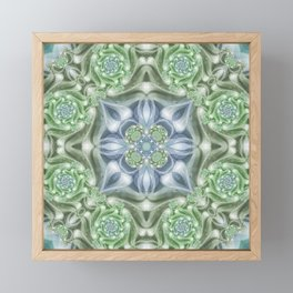 Shades of Green Mandala Framed Mini Art Print