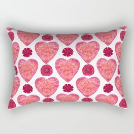 Hearts and Flowers for Valentine's Day Rectangular Pillow
