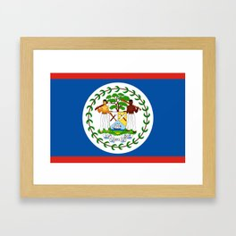 Belize country flag Framed Art Print