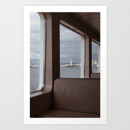 FERRY WINDOW Art Print