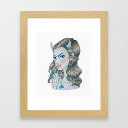 Blue Devil (Rule 4) Framed Art Print
