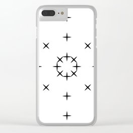 Minimal Black and White Pattern Simple Design Clear iPhone Case