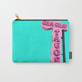 Cha-Cha's Tacos Retro Vintage Pink Sign Carry-All Pouch