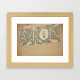 Downtown Akron - Fine Art Print Framed Art Print