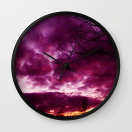 Moody Purple Sky Wall Clock
