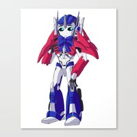 optimus prime Canvas Prints featuring Optimus Prime by Crow