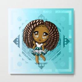 Adorable African American Girl Metal Print