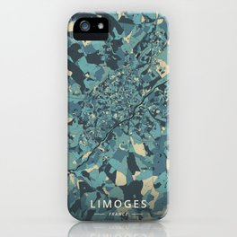 Limoges, France - Cream Blue iPhone Case
