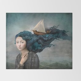 Message from the Sea Throw Blanket