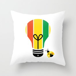 Beatnik: Bright Idea Art Series  Throw Pillow