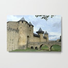 Entrance in the City of Carcassonne  Metal Print