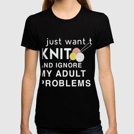 Funny Costume For Knitting Lover. Gift For Grandma. T-shirt
