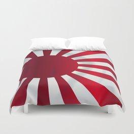 Japanese Rising Sun Flag Duvet Cover