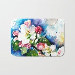 Sakura - Tree Blossom Watercolor Bath Mat
