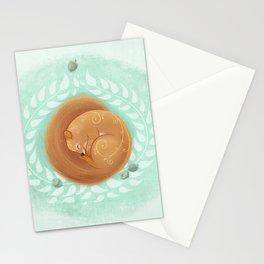 Sleeping Squirrel Stationery Cards