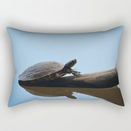 Turtle on The Lake (Color) Rectangular Pillow