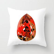 GEMS - red , velvet , orange , rubin Throw Pillow