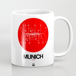 Munich Red Subway Map Coffee Mug