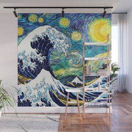 Starry Wave Night Wall Mural