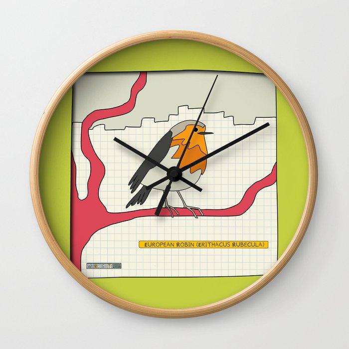 European Robin Wall Clock