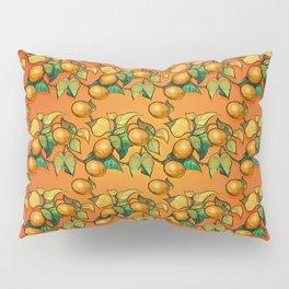 """Coral Sunset over Lemon tree Pattern"" Pillow Sham"