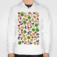 vegetables Hoodies featuring Vegetables by Alisa Galitsyna