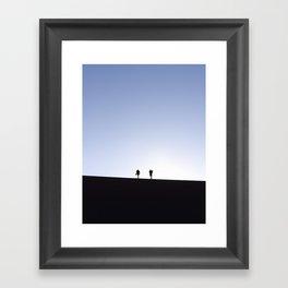 Follow the Dunes Framed Art Print