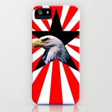 american flag and the Bald eagle iPhone (5, 5s) Slim Case