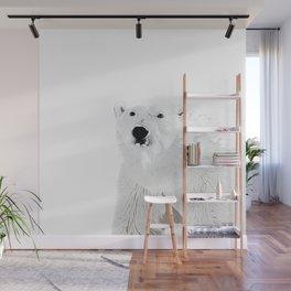 polar ice bear vector art white Wall Mural