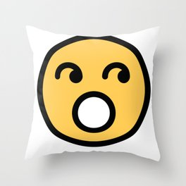 Smiley Face   Rolling Eyes Throw Pillow