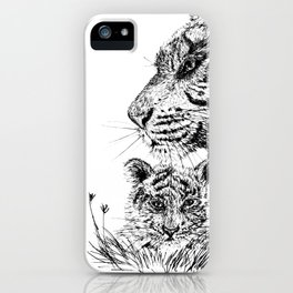 Tiger's family iPhone Case