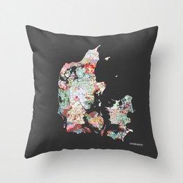 Danemark map #2 Throw Pillow