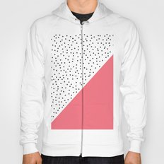 Geometric grey and pink design Hoody