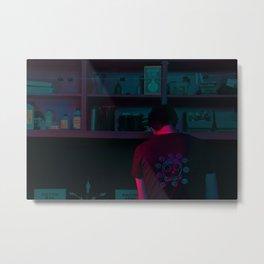 He Screens Metal Print