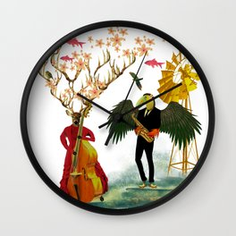 Jam sesh with friends Wall Clock