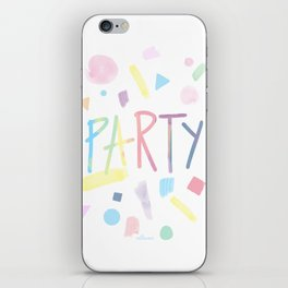 Pastel party iPhone Skin