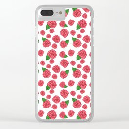 Rose Doodles Clear iPhone Case