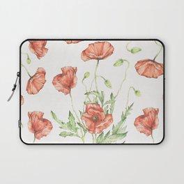 Fragile Beauty - Watercolor Poppies Laptop Sleeve