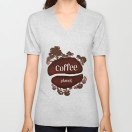 Welcome to the Coffee planet - I love Coffee Unisex V-Neck
