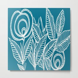 Abstract Flower Bush Metal Print