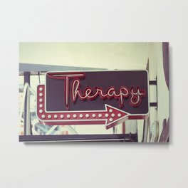 Therapy Metal Print