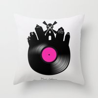 amsterdam Throw Pillows featuring Amsterdam  by mark ashkenazi