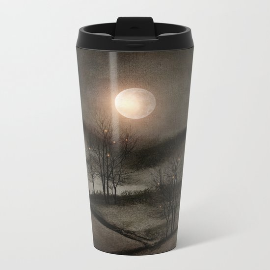 Calling The Moon II Metal Travel Mug