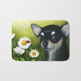 Black Chihuahua Dog Bath Mat