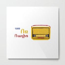 Radio Metal Print