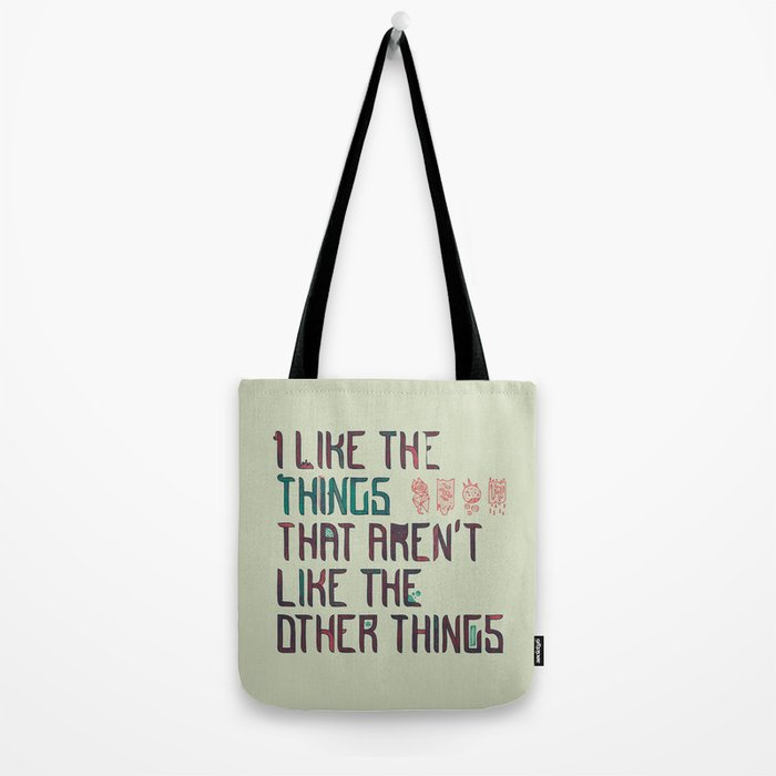 The Things I Like Tote Bag