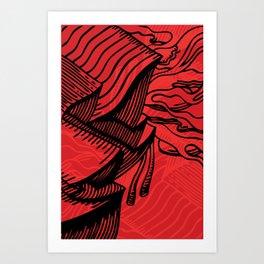 Carve Art Print