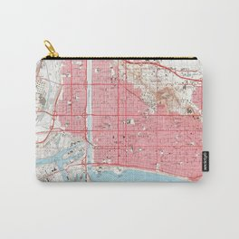 Vintage Map of Long Beach California (1964) 4 Carry-All Pouch